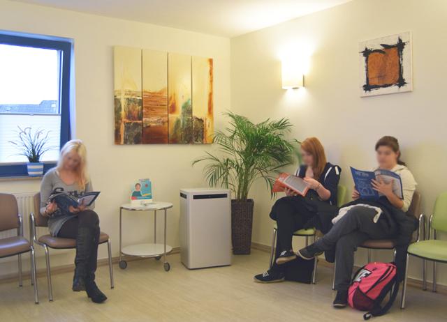 Blick in das Wartezimmer Team Gyn-RE in Recklinghausen